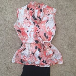 Floral Blouse with tie